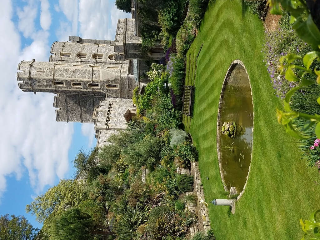 Garden below Windsor Castle
